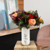 Bouquet automne avec anthurium et rose